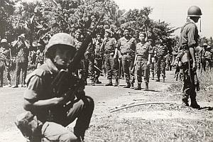 Vietnam Cambodia War Head Quarter Old Photo 1978