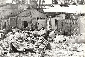 Vietnam Cambodia War Ruins Old Photo 1978