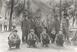 Vietnam Cambodia War Men Group Koh Peam Old Photo 1978