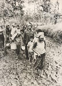 Vietnam Cambodia Warn Refugees Old Photo 1979