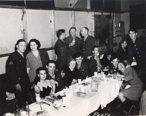 Maine WWII Military Party US Army Airfield Presque Isle Photo 1943