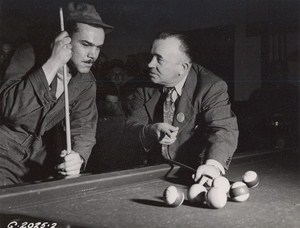 Maine WWII Playing Pool US Army Airfield Presque Isle Photo 1943