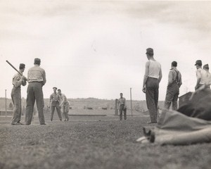 Maine WWII Baseball Game US Army Airfield Presque Isle Photo 1943