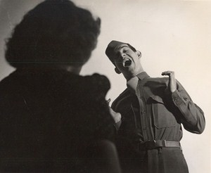 Maine WWII Singing Soldier US Army Airfield Presque Isle Photo 1943