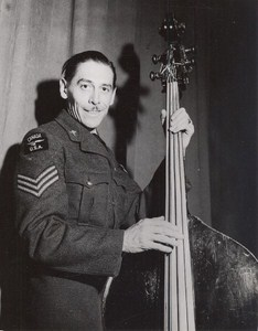 Maine WWII Musician Bass US Army Airfield Presque Isle Photo 1943