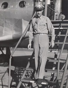 Maine WWII Man Uniform US Army Airfield Presque Isle Photo 1943