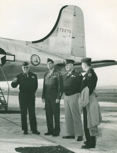 Maine WWII Officers Aircraft US Army Airfield Presque Isle Photo 1943