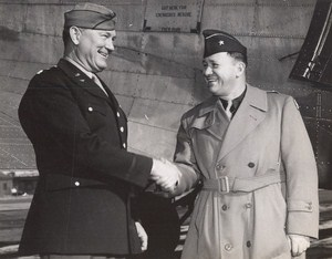 Maine WWII Officers Military US Army Airfield Presque Isle Photo 1943