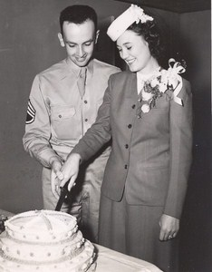 Maine WWII Wedding Cake US Army Airfield Presque Isle Photo 1943