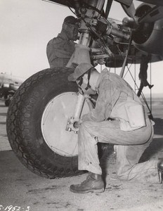 Maine WWII Gas Mask Exercise US Army Airfield Presque Isle Photo 1943