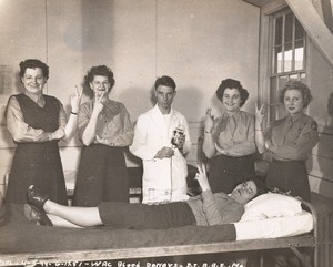 Maine WWII Woman Air Corps Blood Donors US Army Airfield Presque Isle Photo 1944