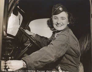 Maine WWII Driver Cynthia Porter US Army Airfield Presque Isle Photo 1944