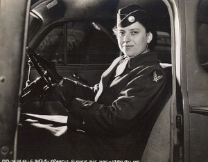 Maine WWII Woman Private Francis Sleder US Army Airfield Presque Isle Photo 1944