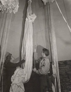 Maine WWII Parachute Room US Army Airfield Presque Isle Photo 1943