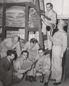 Maine WWII Group Preparing Gun US Army Airfield Presque Isle Photo 1943