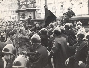 March Against Moroccan Independence Riots Paris France Photo 1952