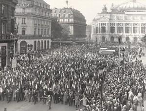 War Veterans Demonstration Paris France old Photo 1963