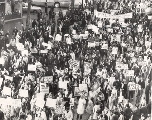 Demonstration Against Vietnam War Paris France old Photo 1967
