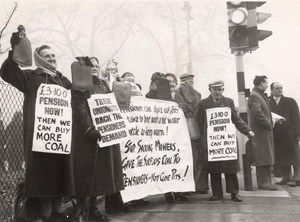 Welsh Miners Pensioners March Hot Water Bottle London Photo 1959