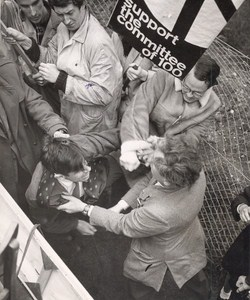 Ban the Bomb Supporters Disrupt May Day Rally London Old Photo 1962