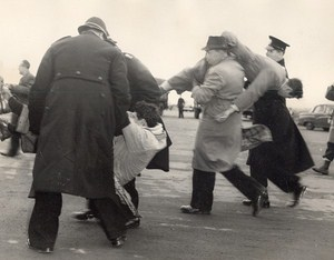 March Against Nuclear War Police Demonstrator Swaffham Old Photo 1958
