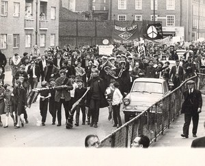 Young Socialists at Vietnam War Demonstration London Old Photo 1960's