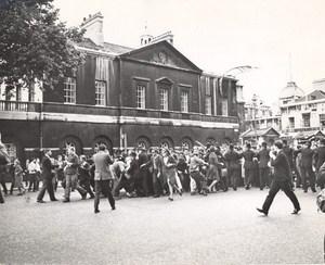 Demonstration During Royal Greek Visit in London Old Photo 1963