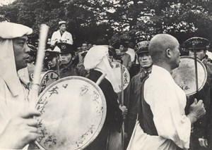 Buddhist Monks at Anti Nuclear Demonstration British Embassy Tokyo Photo 1957