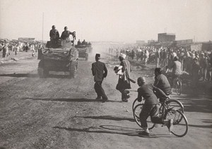 Morocco Riots against France Colonialism Old Photo 1952