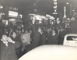 Anti Lyndon Johnson Demonstration in Rome Italy Old Photo 1967