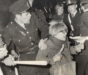 Sweden Students Riots Swedish Police Stockholm Old Photo 1968