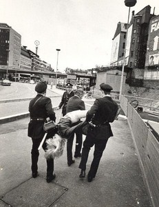Sweden Anti Soviet Kosygin Visit Stockholm Old Photo 1968