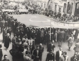 Istanbul Students Demonstrate for Cyprus Old Photo 1967