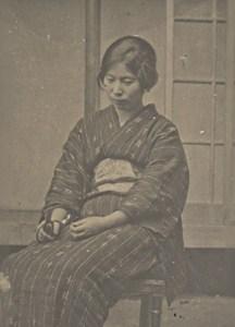 Portrait Lady Fashion Japan Sendai Old Photo 1910