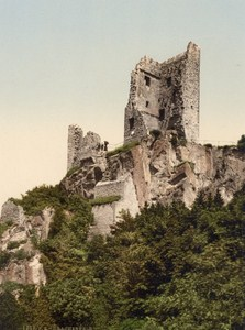 Castle Drachenfels Germany Old PZ Photochrom 1900
