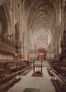 York Minster Cathedral Interior England Old PZ Photochrom 1900