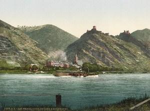 Bornhofen Rhine Germany Old PZ Photochrom 1900