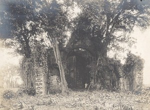 Panama Canal Cathedral Ruins Old Photo 1915