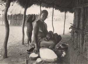 Attilio Gatti African Expedition Batonga Mother Belgian Congo Old Photo 1936