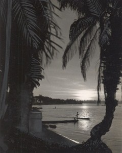 Attilio Gatti African Expedition Belgian Congo Sunset Old Photo 1936