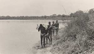 Attilio Gatti African Expedition AEF Natives back from Hunting Old Photo 1936