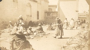 Bolivia La Paz Small Market Old Snapshot Photo 1910
