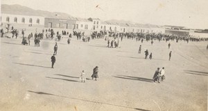 Bolivia Publo Salar de Uyuni Crowd Old Snapshot Photo 1910