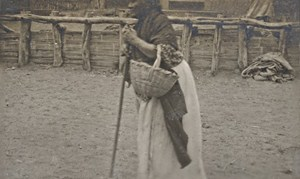 Peru Paita Pueblo Inca Woman Old Snapshot Photo 1910