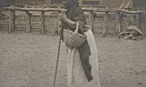 Peru Paita Pueblo Inca Woman Old Snapshot Photo 1910