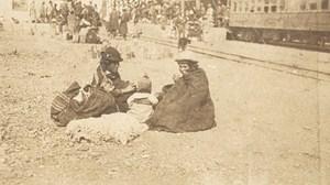 Bolivia La Paz Indian Women Railway ? Old Snapshot Photo 1910