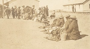 Bolivia La Paz Indians Selling Goods Old Snapshot Photo 1910