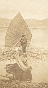 Peru Lake Titicaca Boatman Old Snapshot Photo 1910