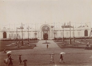 Vietnam International Fair Hanoi Garden Building Old Photo 1902