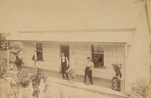 Australia Marrickville Muir Family House Old Cabinet Card Photo 1890